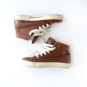 Polo Ralph Lauren leather high top sneakers